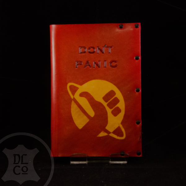 Don't Panic / Hitchhiker's Guide Leather Covered Book
