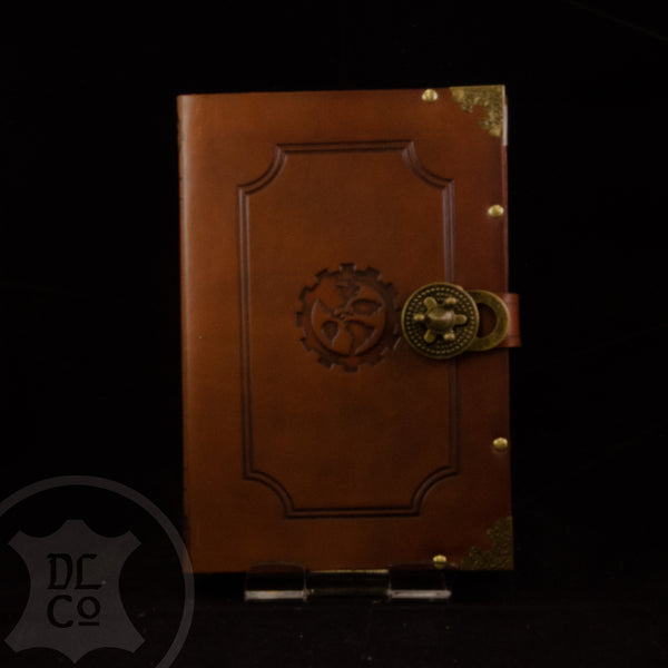 Steampunk Antiqued Twist Lock Book