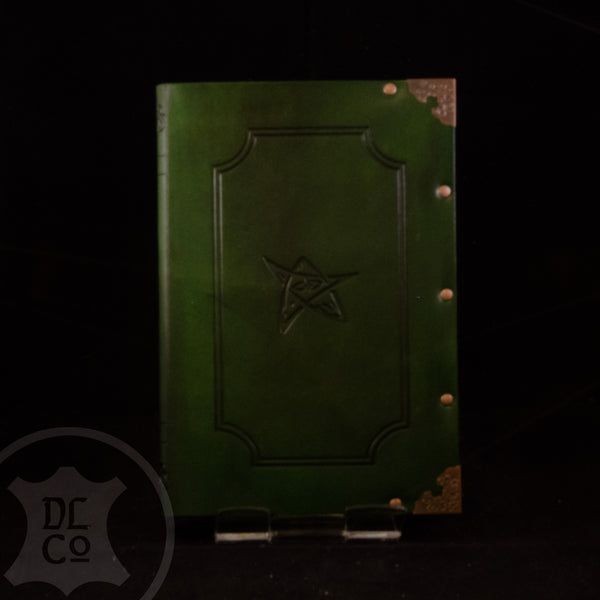 Lovecraftian Cthulu Leather Covered Book