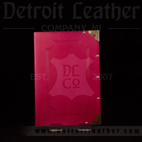 Pink Leather Bound Book
