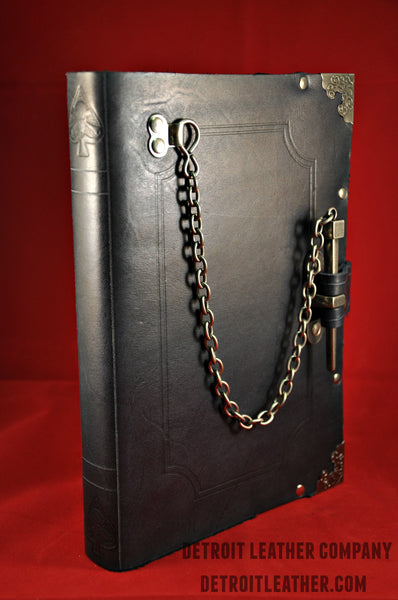 Pin-Lock Leather-bound Book