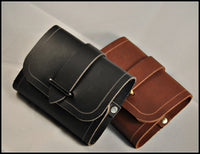 Small Vial Leather Pouches