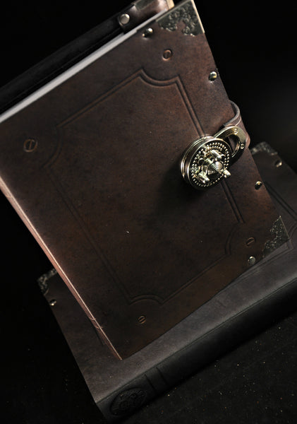 Twist-Lock Leather-bound Book