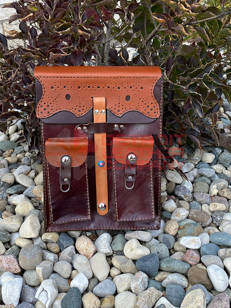 Pattered Leather Backpack