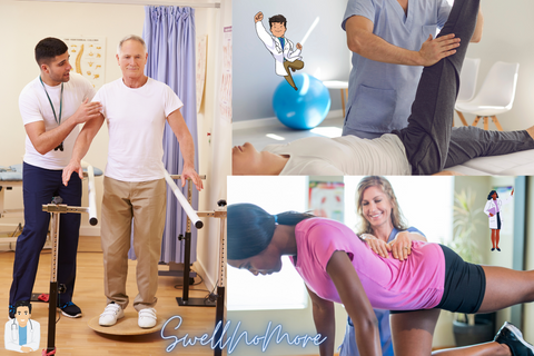 how does physical therapy reduces water retention