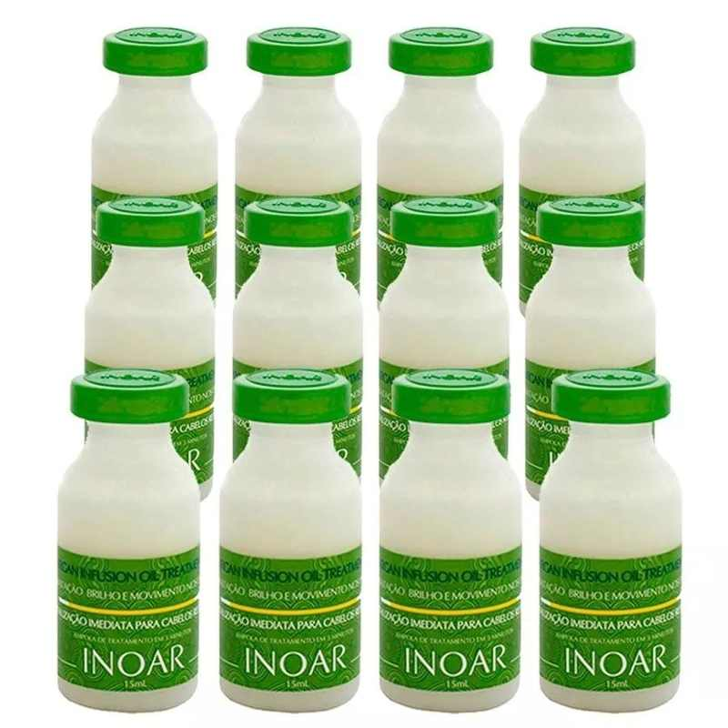 Inoar Argan Oil Display 12 Ampolas Infusion De 15ml