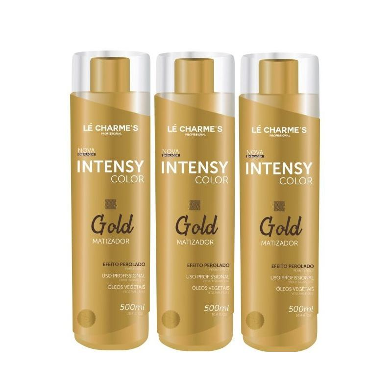 Kit Intensy Color Gold 500ml 3 Unidades