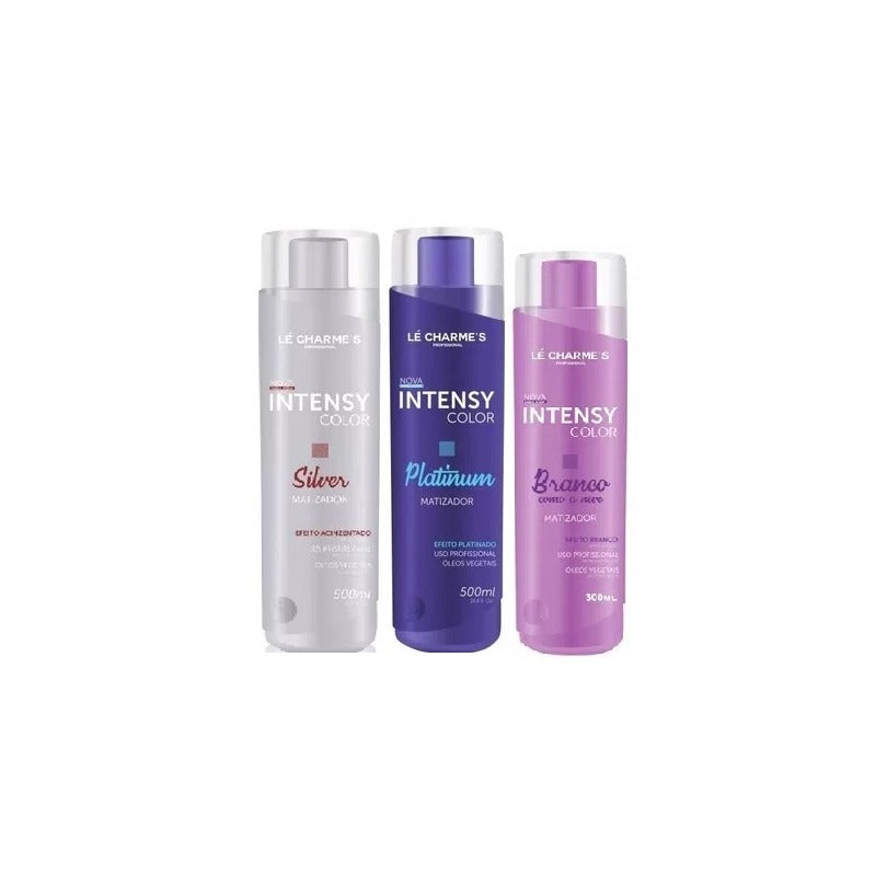 Intensy Color  Platinum+silver 500ml+branco Como Neve 300ml