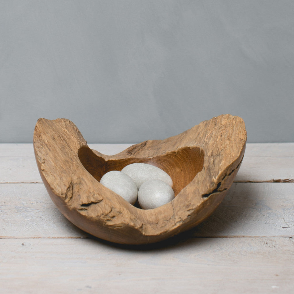 Heron Large Nest Bowl with Eggs