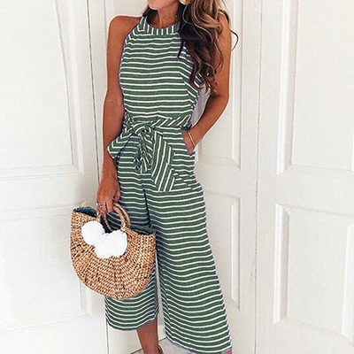 Myah Striped Jumpsuit