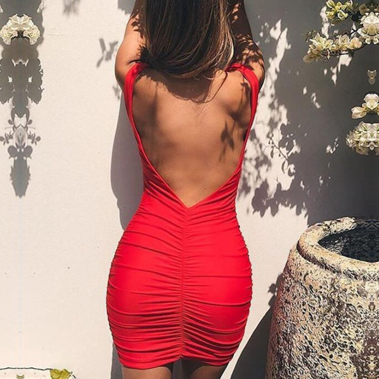 Clara Backless Mini Dress
