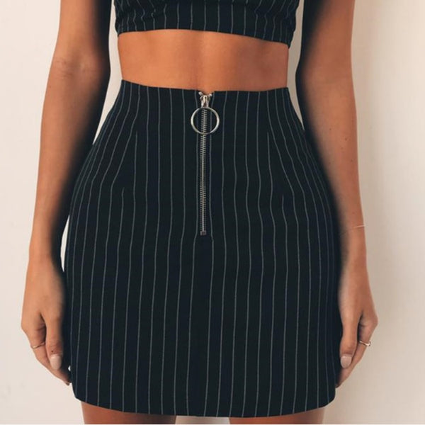 Ella Striped Skirt