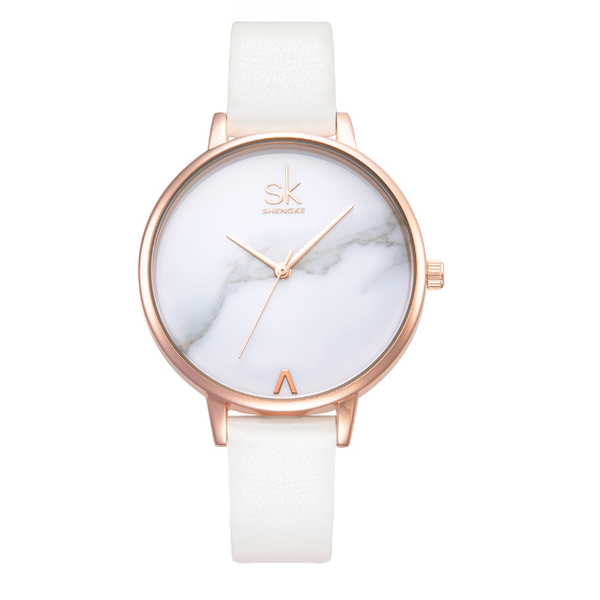 Minimalist Marble Quartz Watch