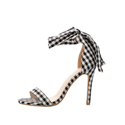 Mabel Plaid Heels