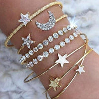 Multilayer Rhinestone Bracelet Set