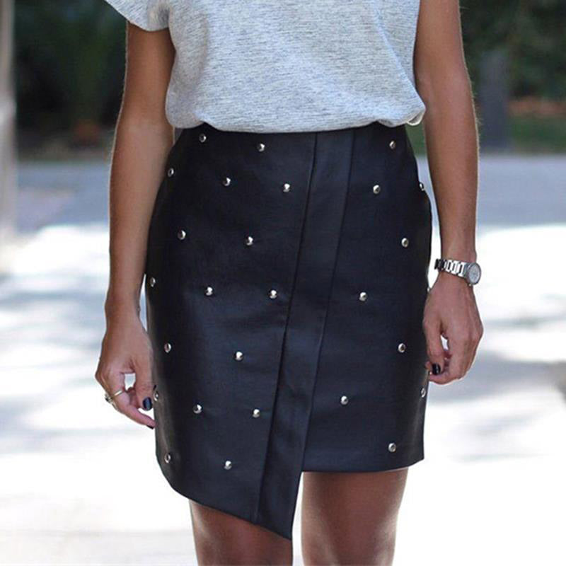 Ellis Leather Skirt