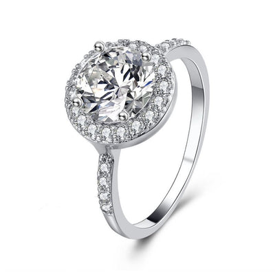 Crystal Circle Zirconia Ring