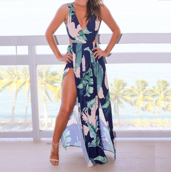 Leaves Maxi Dress