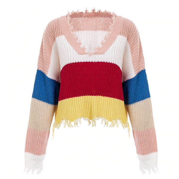 Agata Frayed Sweater
