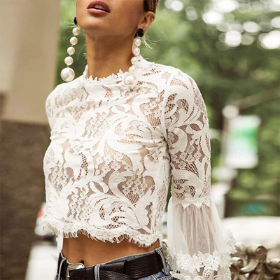 Nain Lace Crop Blouse