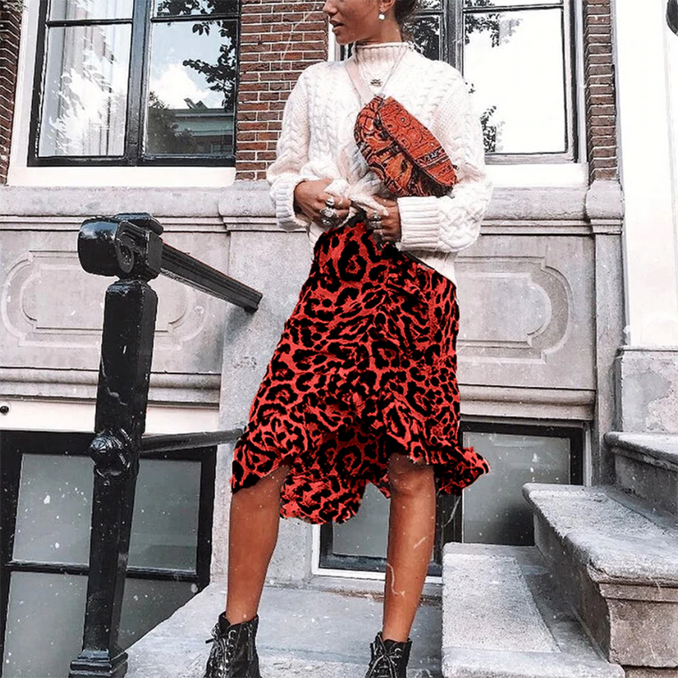Queenie Animal Print Skirt