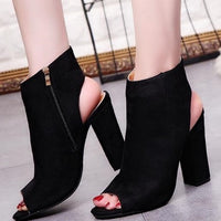 Naomi Peep Toe Booties