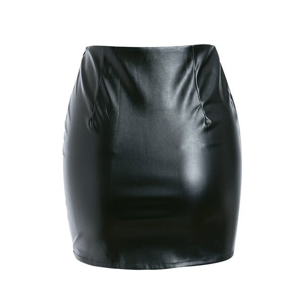 Maisie Leather Skirt