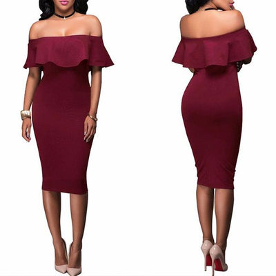 Barcelona Off Shoulder Dress