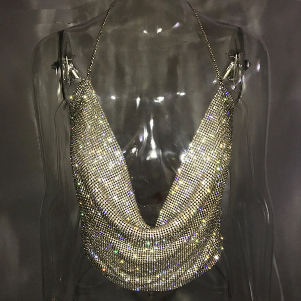 Shiny Rhinestones Top