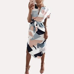 Sasha Geometric Dress