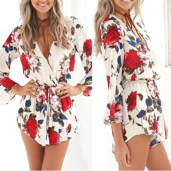 Vivian Floral Playsuit