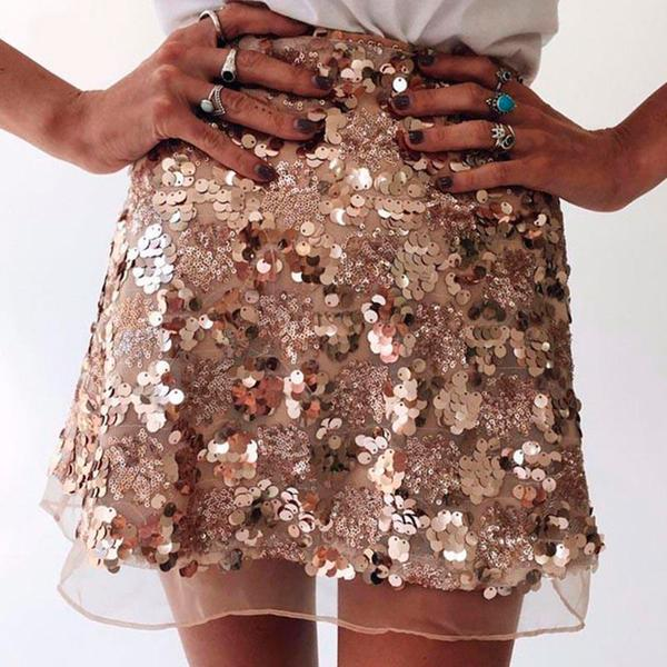 Party Glitter Mini Skirt