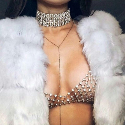 Celebrity Crystal Bra