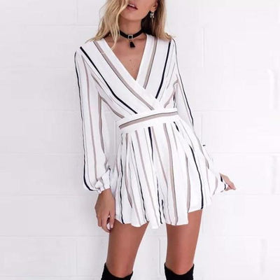 Carrie Stripes Playsuit