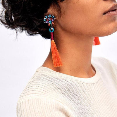 Ethnic Tassels Earrings