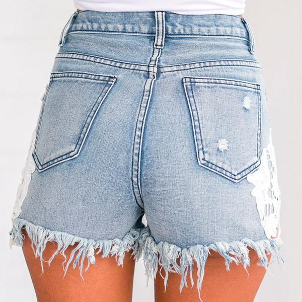 Ripped Mini Shorts