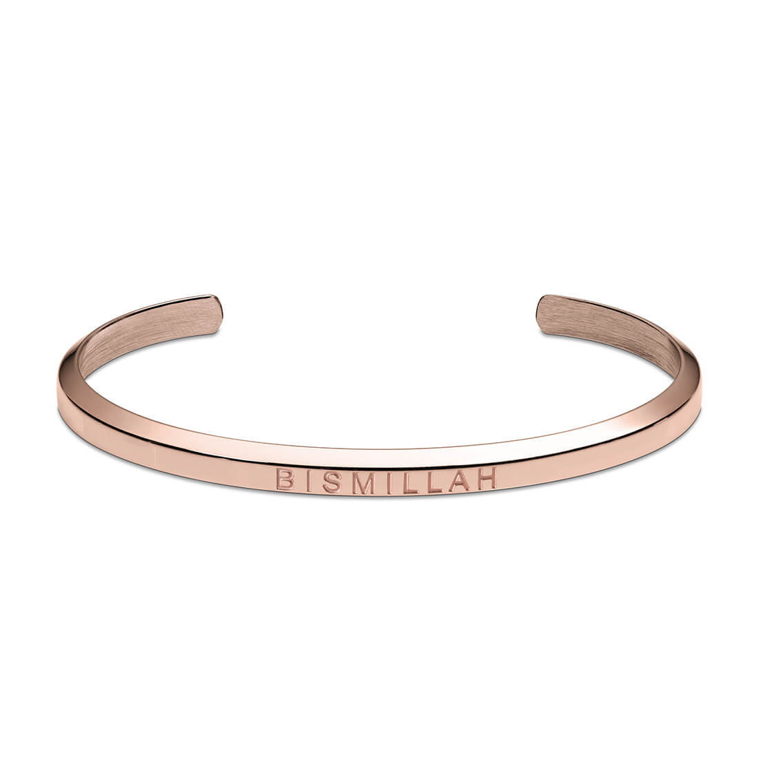 Bismillah Cuff Bracelet in Rose Gold by Crscnt Moon