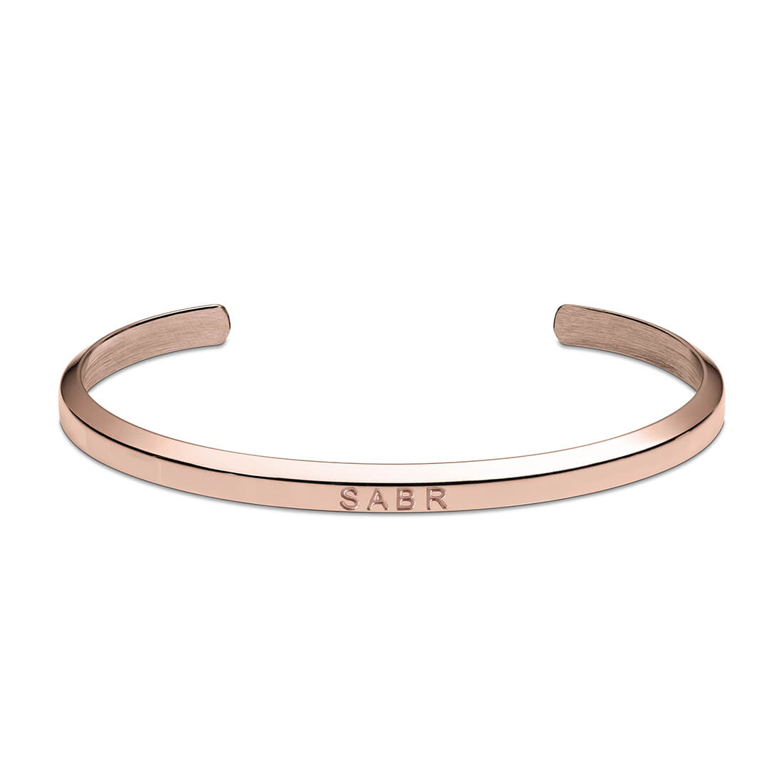 Sabr Cuff Bracelet in Rose Gold by Crscnt Moon