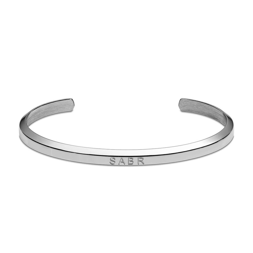 Sabr Cuff Bracelet in Silver by Crscnt Moon