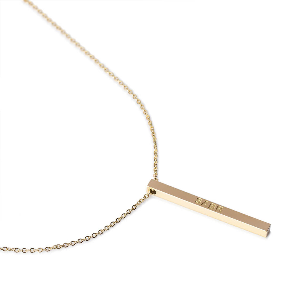Sabr Necklace in Gold by Crscnt Moon