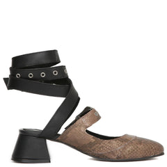Free People for Women: Talula Black/Snake Block Heel