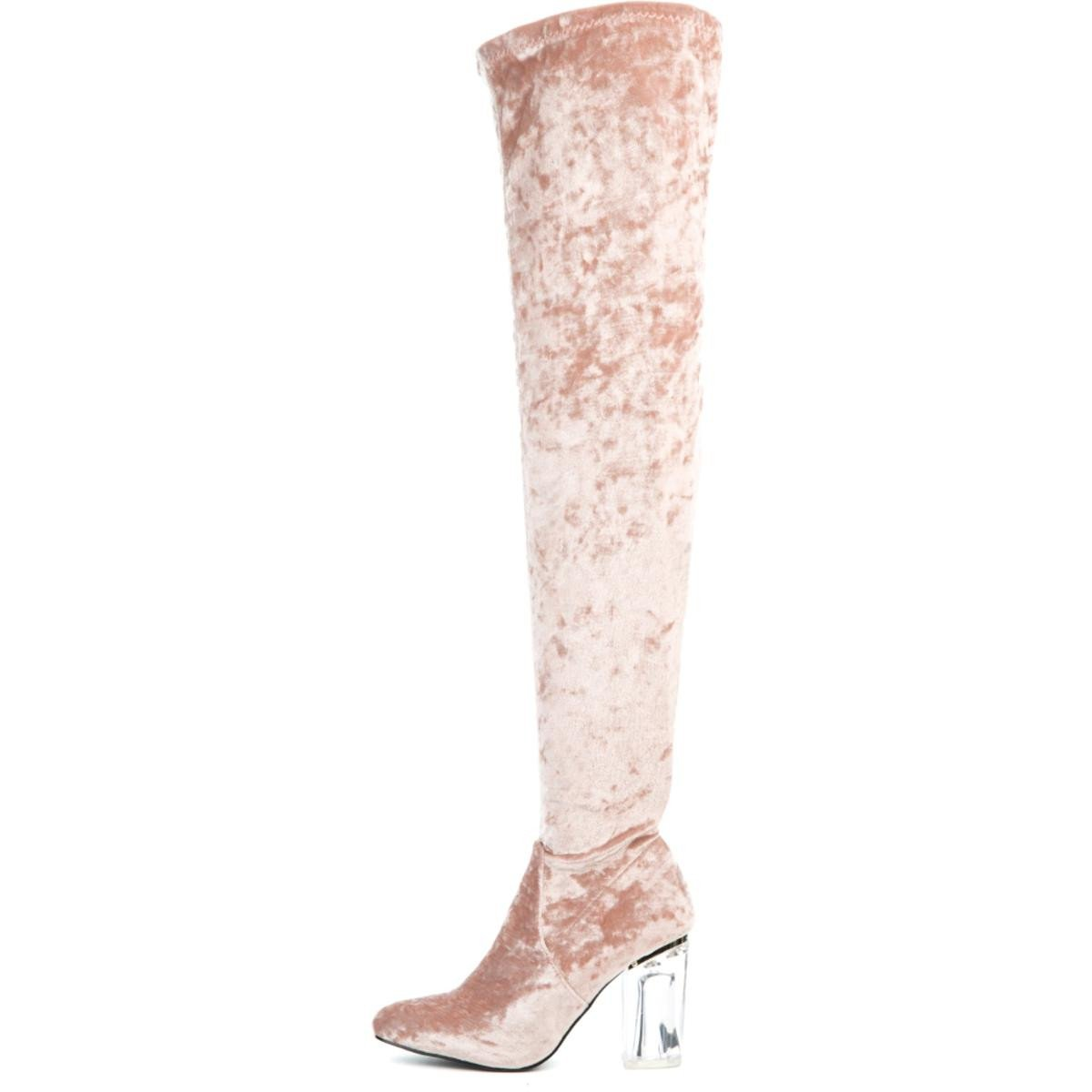 Cape Robbin Fay-15 Women's  Pink High Heel Boot
