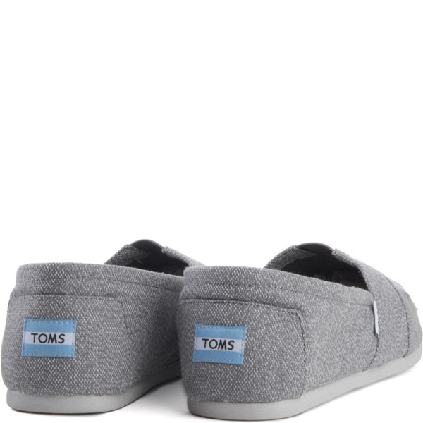 Toms for Men: Classic Grey White Woven Flats