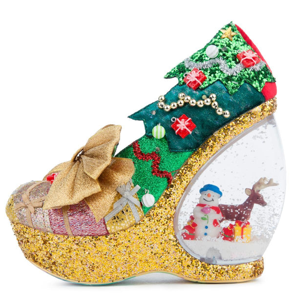 Santa Snow Globe Wedges