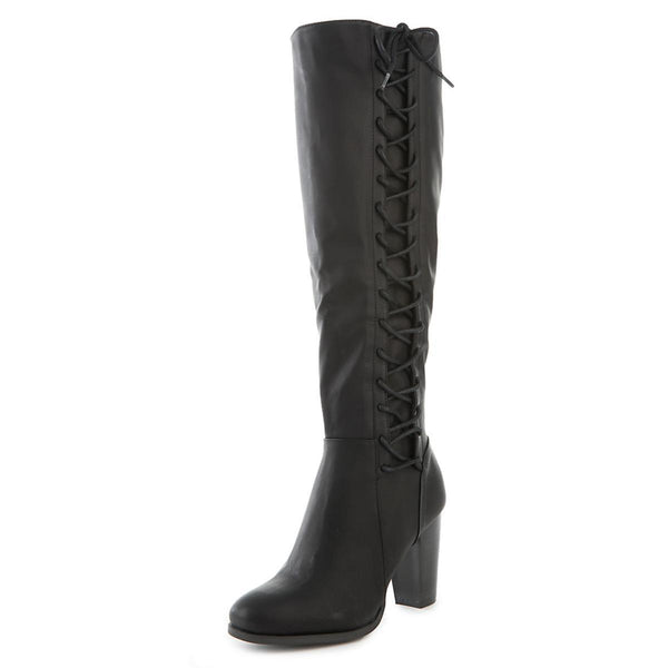 Women's Cheek-08S Knee-High Lace-Up Boot
