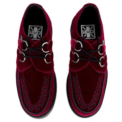 T.U.K for Women: Burgundy Velvet Viva Mondo Creeper