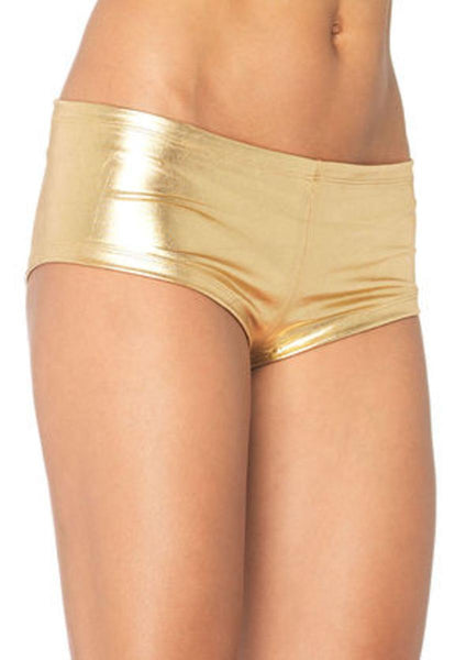 Misfit booty shorts in GOLD