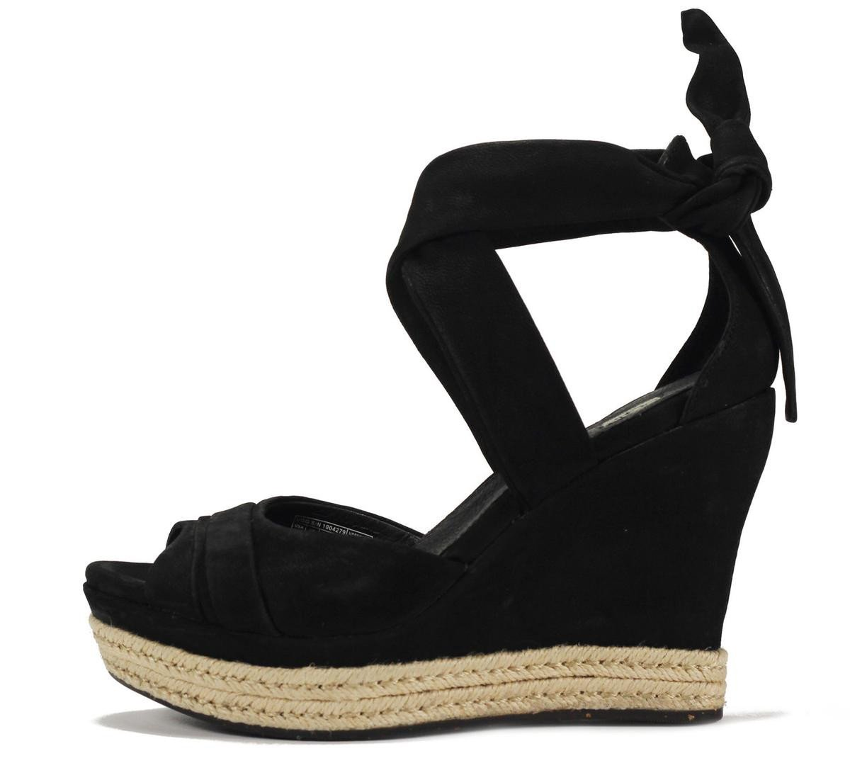 UGG Australia for Women: Lucy Black Wedge Sandal