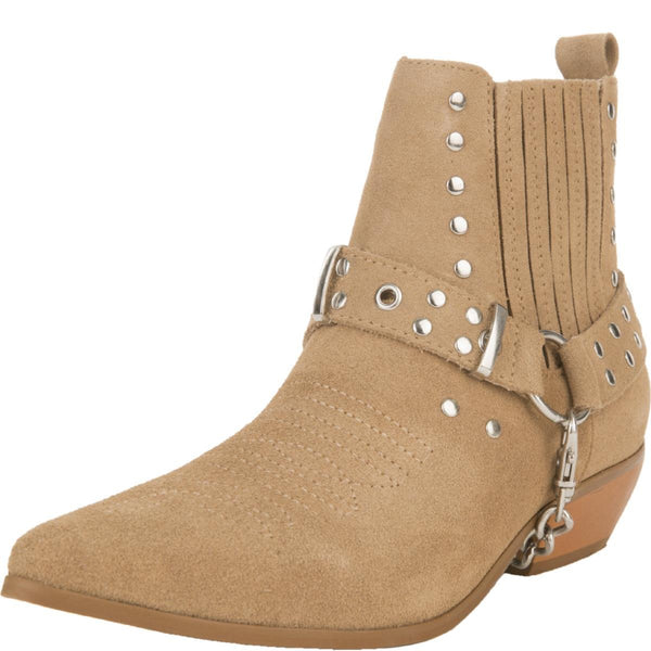 Y.R.U for Women: Laso Tan Heeled Booties