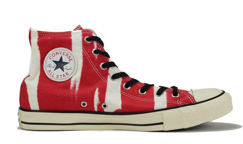 Converse for Men: All Star Hi Bleach Red Sneaker